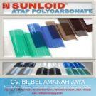 Atap Transparan Polycarbonate Sunloid