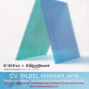 Atap Transparan Polycarbonate Elite & Excellent