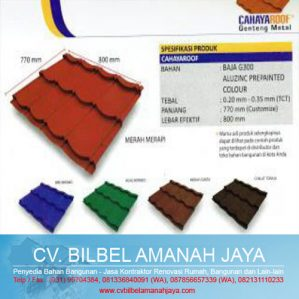 Genteng Metal Cahaya Roof